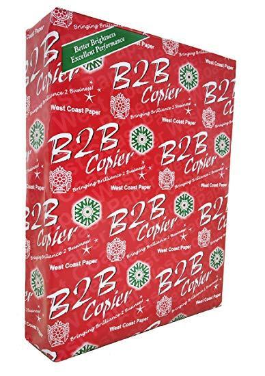 B2B A4 Copier paper west coast paper red box