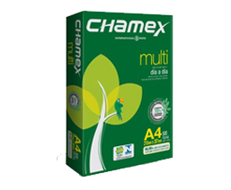 Chamex Multi A4 80gsm green looking box and leave like design